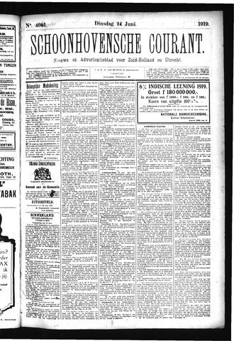 Schoonhovensche Courant 1919-06-24