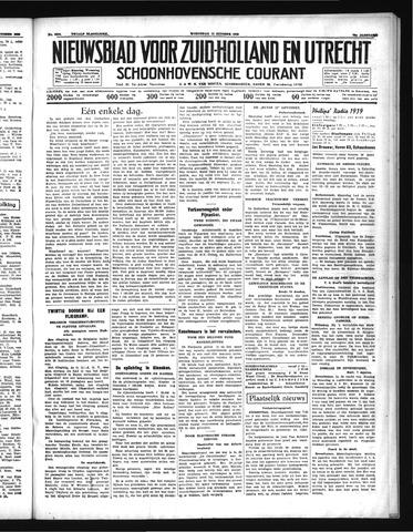 Schoonhovensche Courant 1938-10-12