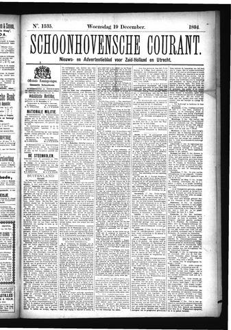 Schoonhovensche Courant 1894-12-19