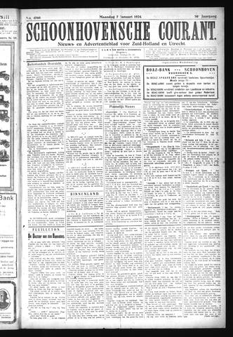 Schoonhovensche Courant 1924-01-07