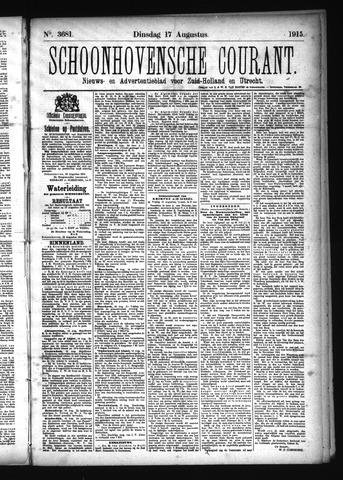 Schoonhovensche Courant 1915-08-17