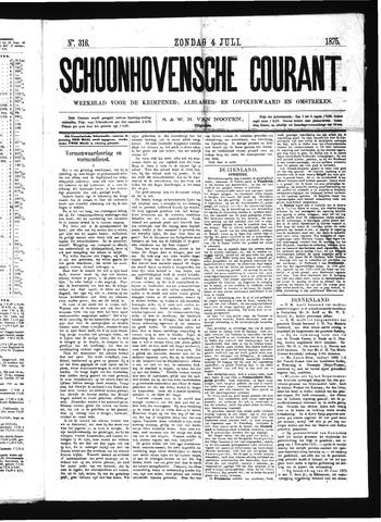 Schoonhovensche Courant 1875-07-04