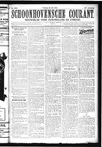 Schoonhovensche Courant 1924-07-25