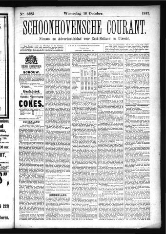 Schoonhovensche Courant 1912-10-16