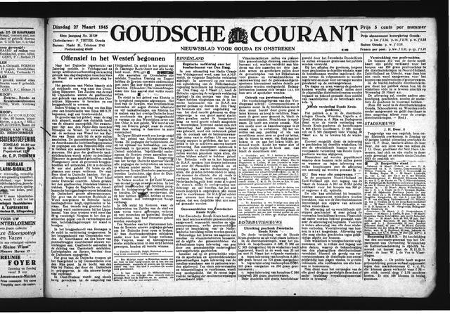 Goudsche Courant 1945-03-27