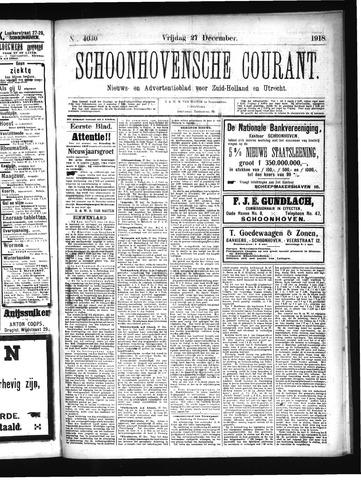 Schoonhovensche Courant 1918-12-27