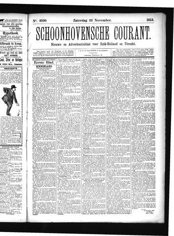 Schoonhovensche Courant 1913-11-22