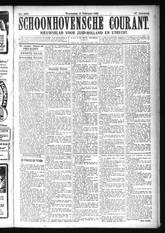 Schoonhovensche Courant 1925-02-18