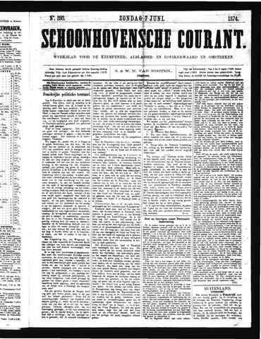 Schoonhovensche Courant 1874-06-07