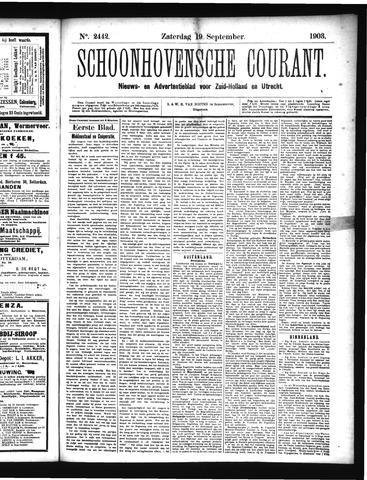 Schoonhovensche Courant 1903-09-19