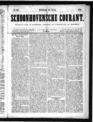 Schoonhovensche Courant 1873-07-27