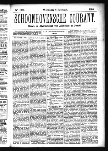 Schoonhovensche Courant 1899-02-08