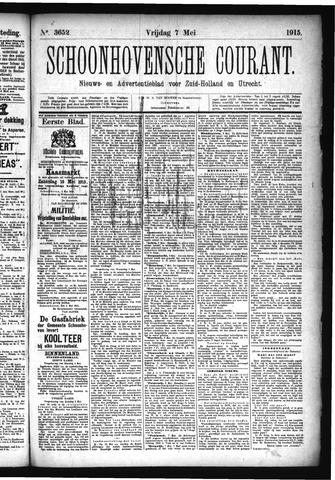 Schoonhovensche Courant 1915-05-07