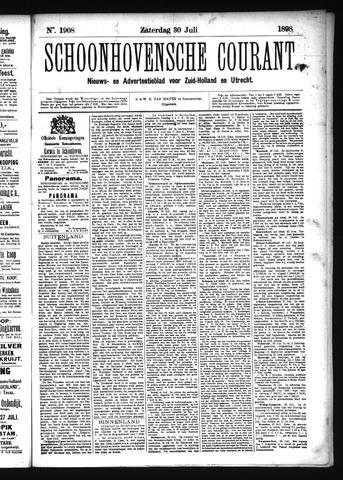 Schoonhovensche Courant 1898-07-30