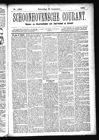 Schoonhovensche Courant 1902-08-16