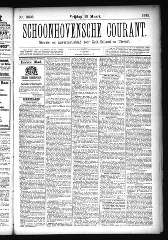 Schoonhovensche Courant 1915-03-12