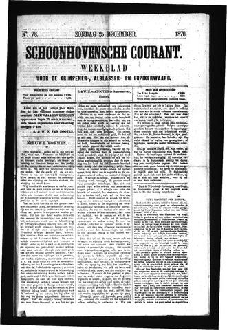 Schoonhovensche Courant 1870-12-25
