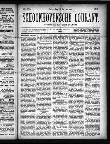 Schoonhovensche Courant 1889-11-09