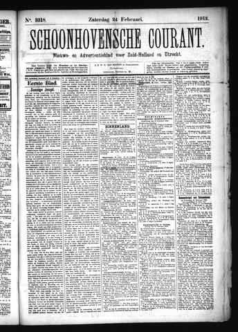 Schoonhovensche Courant 1912-02-24