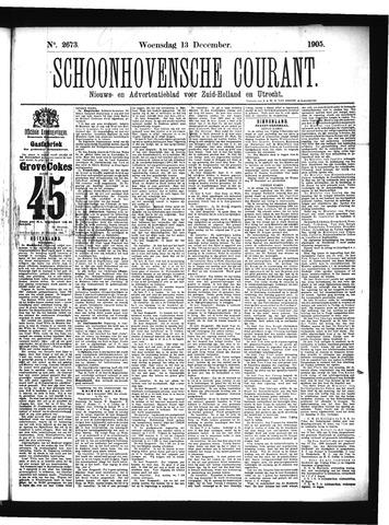 Schoonhovensche Courant 1905-12-13