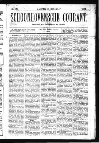 Schoonhovensche Courant 1884-11-15