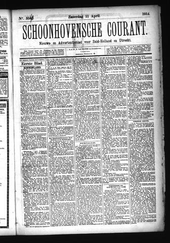 Schoonhovensche Courant 1914-04-11