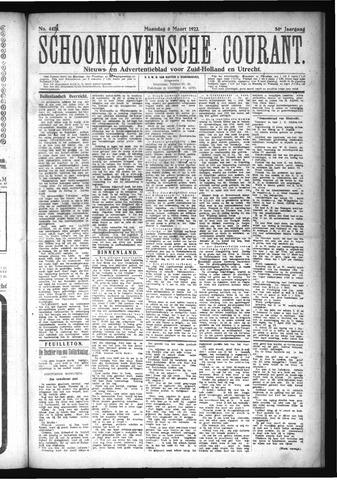 Schoonhovensche Courant 1922-03-06