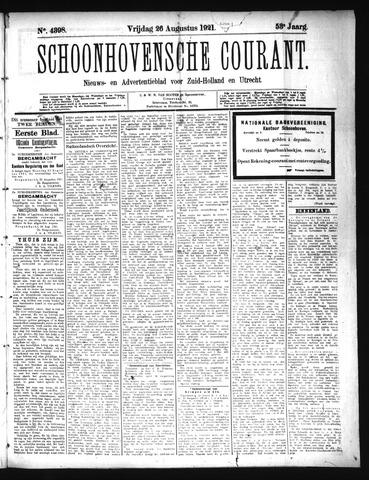 Schoonhovensche Courant 1921-08-26