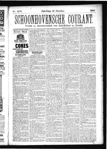 Schoonhovensche Courant 1910-10-15