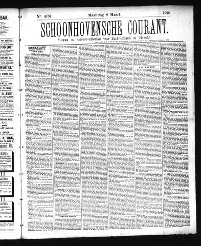 Schoonhovensche Courant 1920-03-08