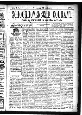Schoonhovensche Courant 1900-10-31