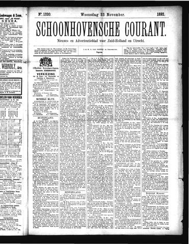 Schoonhovensche Courant 1892-11-23