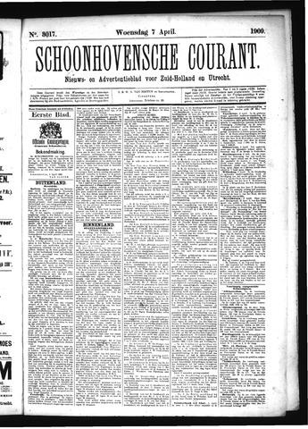 Schoonhovensche Courant 1909-04-07