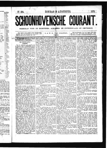Schoonhovensche Courant 1875-08-29