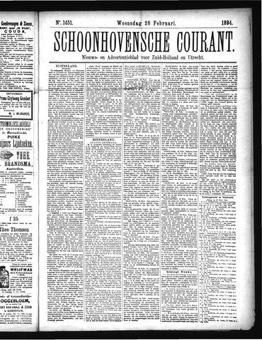 Schoonhovensche Courant 1894-02-28
