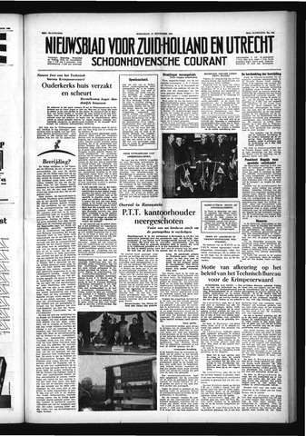Schoonhovensche Courant 1954-11-17