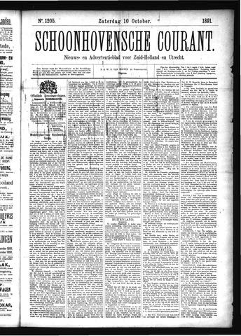 Schoonhovensche Courant 1891-10-10