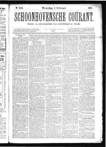 Schoonhovensche Courant 1891-02-04