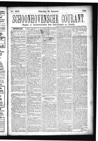 Schoonhovensche Courant 1916-01-25