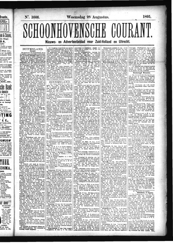 Schoonhovensche Courant 1895-08-28