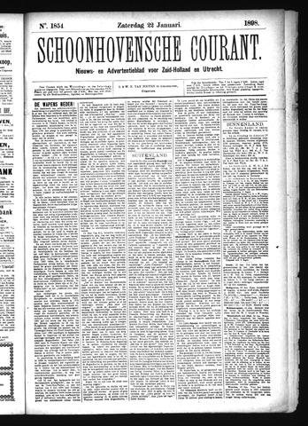 Schoonhovensche Courant 1898-01-22