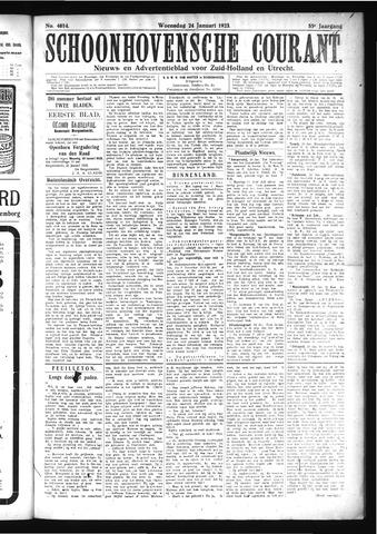 Schoonhovensche Courant 1923-01-24