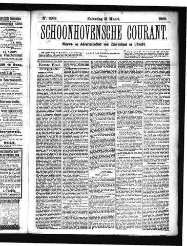 Schoonhovensche Courant 1900-03-31