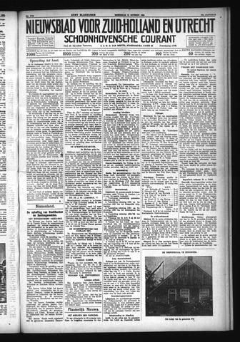 Schoonhovensche Courant 1932-10-12