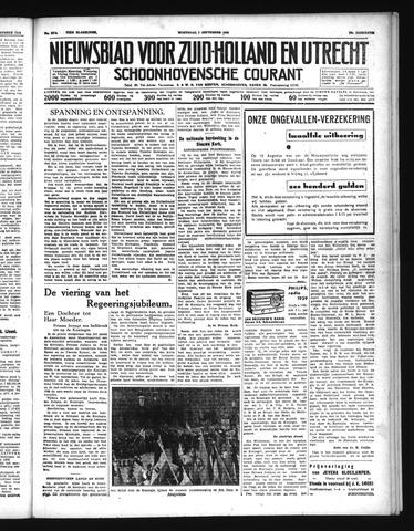 Schoonhovensche Courant 1938-09-07