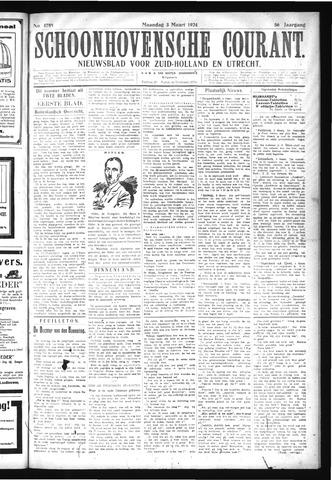Schoonhovensche Courant 1924-03-03