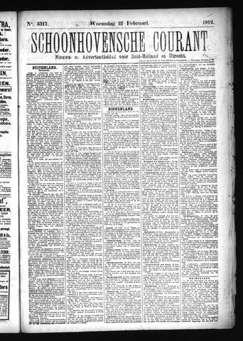 Schoonhovensche Courant 1912-02-21