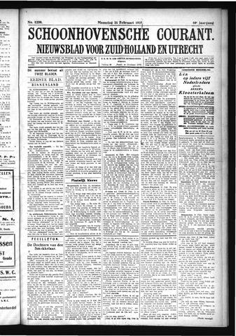 Schoonhovensche Courant 1927-02-21