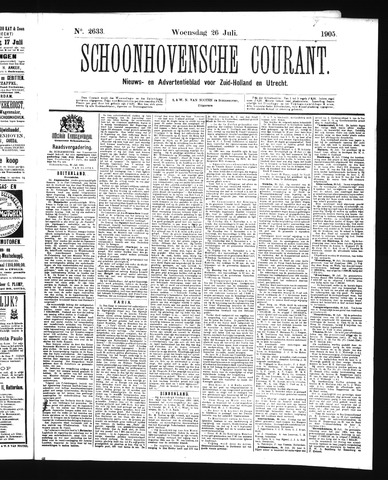 Schoonhovensche Courant 1905-07-26