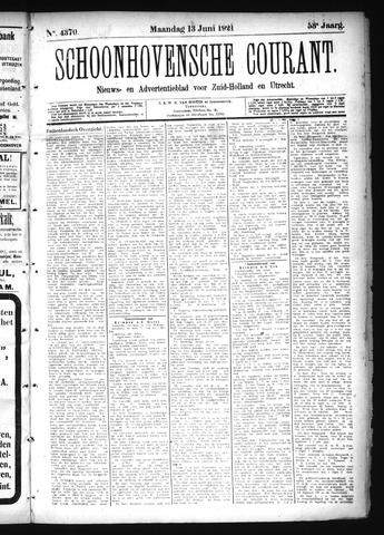 Schoonhovensche Courant 1921-06-13